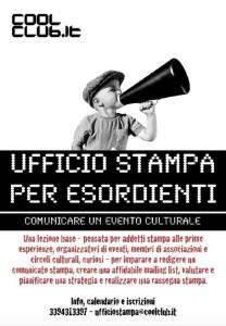 UFFICIO STAMPA PER ESORDIENTI - COOLCLUB - BRINDISI Locandina
